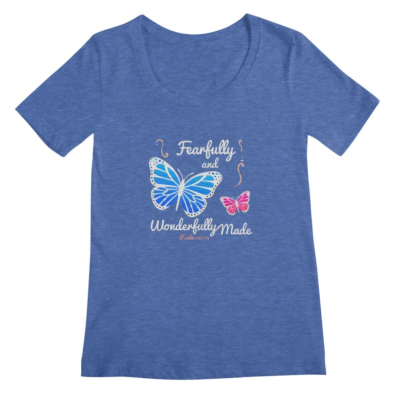 Fearfully and Wonderfully Made Women's Regular Scoop Neck by Light of the World Tees
