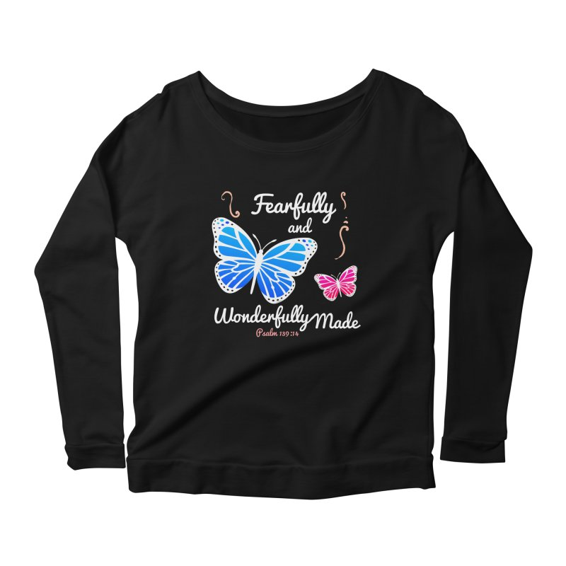 Fearfully and Wonderfully Made Women's Scoop Neck Longsleeve T-Shirt by Light of the World Tees