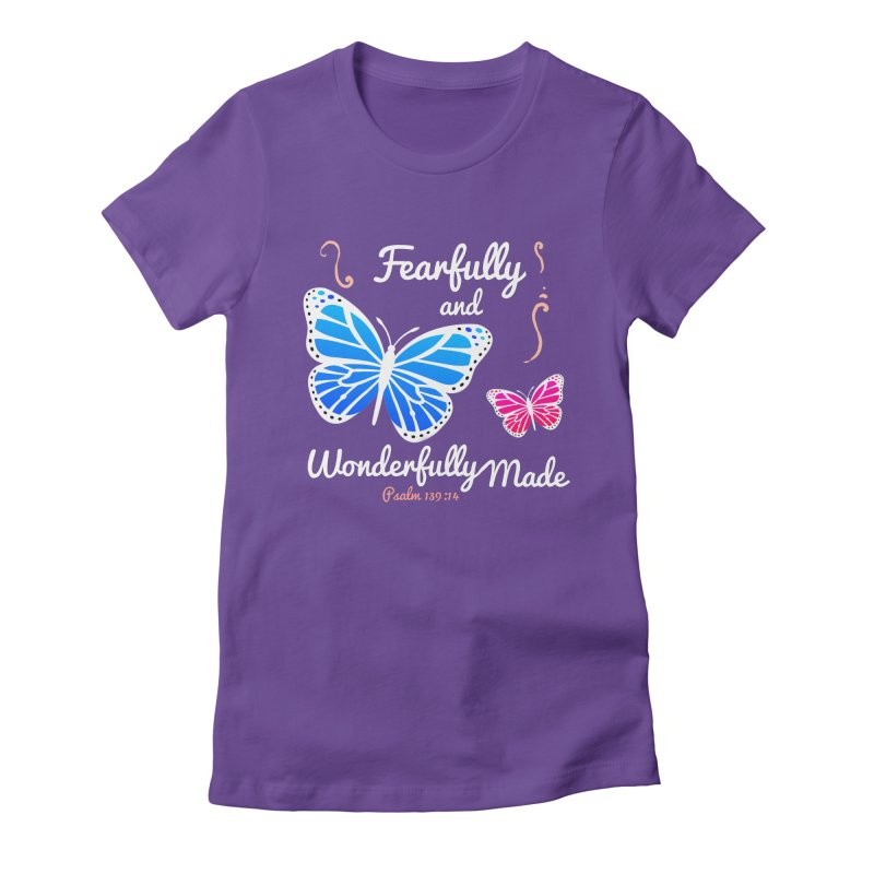 Fearfully and Wonderfully Made Women's Fitted T-Shirt by Light of the World Tees
