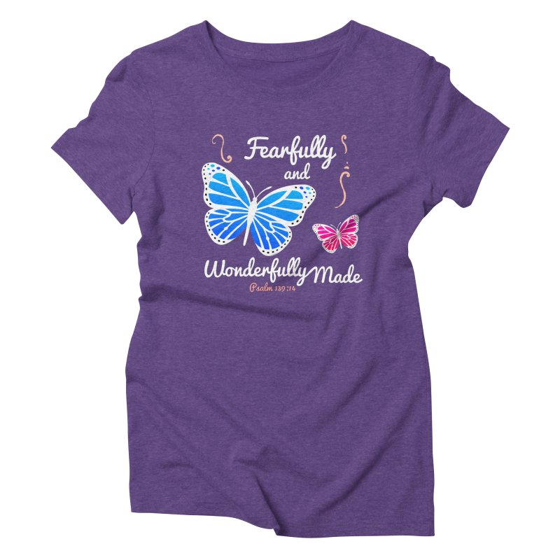 Fearfully and Wonderfully Made Women's Triblend T-Shirt by Light of the World Tees
