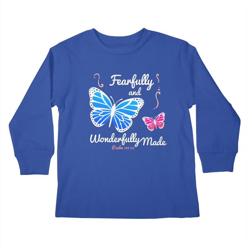 Fearfully and Wonderfully Made Kids Longsleeve T-Shirt by Light of the World Tees
