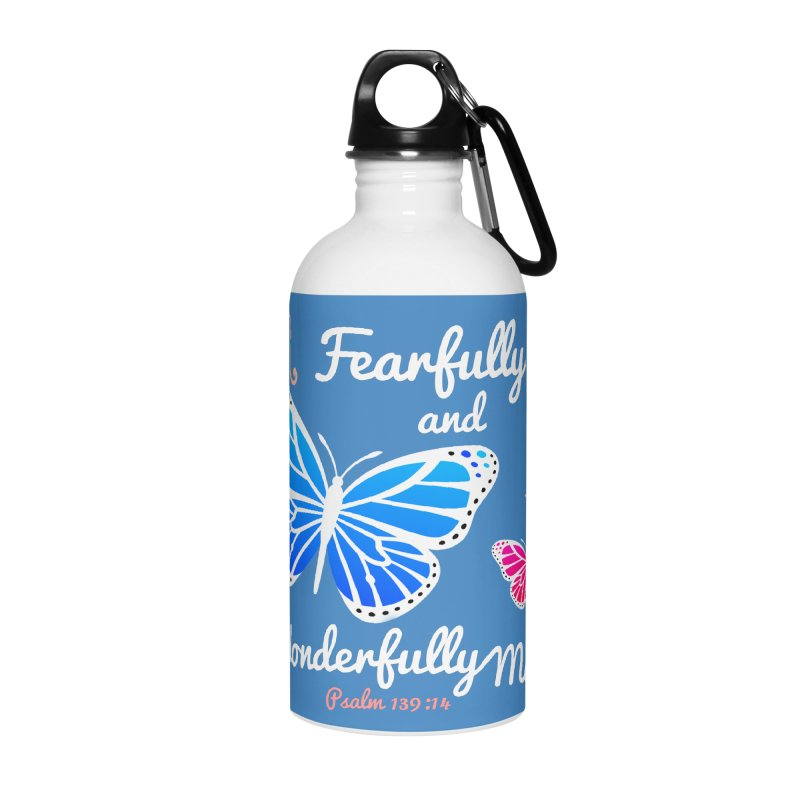 Fearfully and Wonderfully Made Accessories Water Bottle by Light of the World Tees