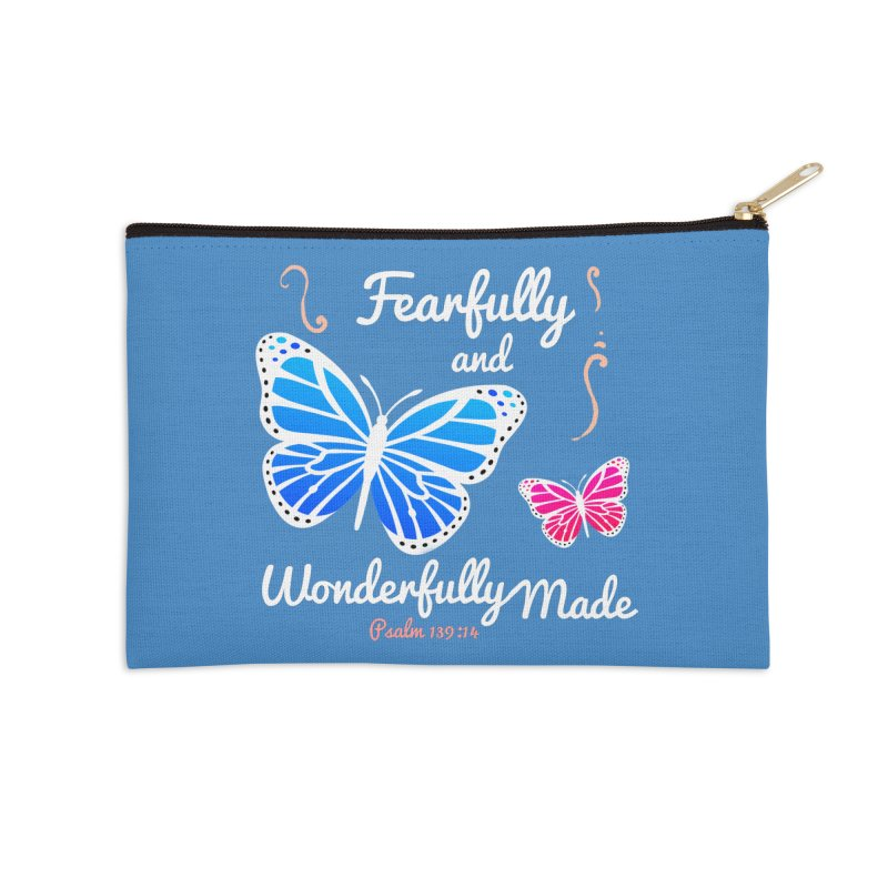 Fearfully and Wonderfully Made Accessories Zip Pouch by Light of the World Tees