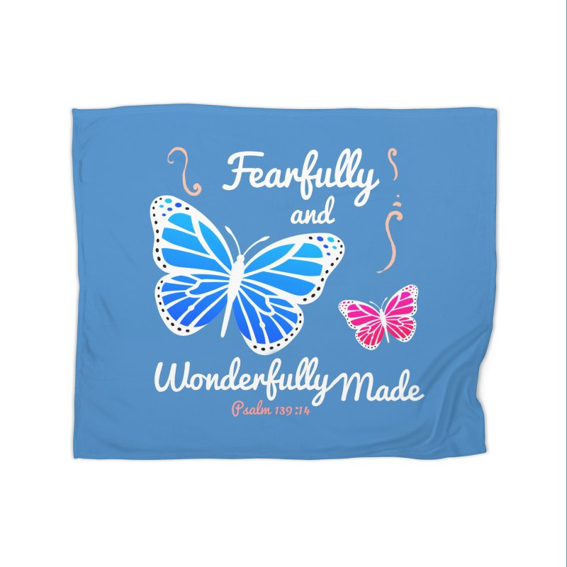 Fearfully and Wonderfully Made Home Fleece Blanket Blanket by Light of the World Tees