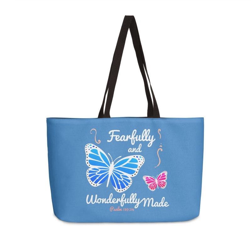 Fearfully and Wonderfully Made Accessories Weekender Bag Bag by Light of the World Tees