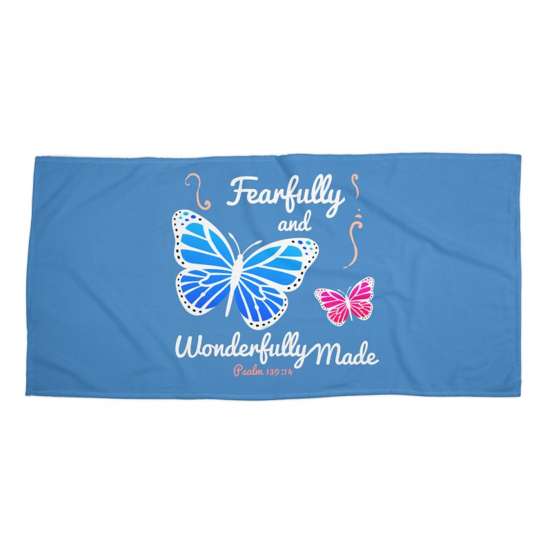 Fearfully and Wonderfully Made Accessories Beach Towel by Light of the World Tees
