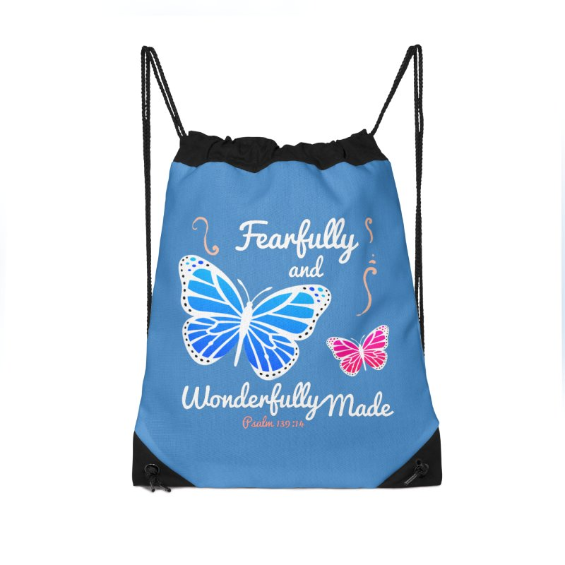 Fearfully and Wonderfully Made Accessories Drawstring Bag Bag by Light of the World Tees
