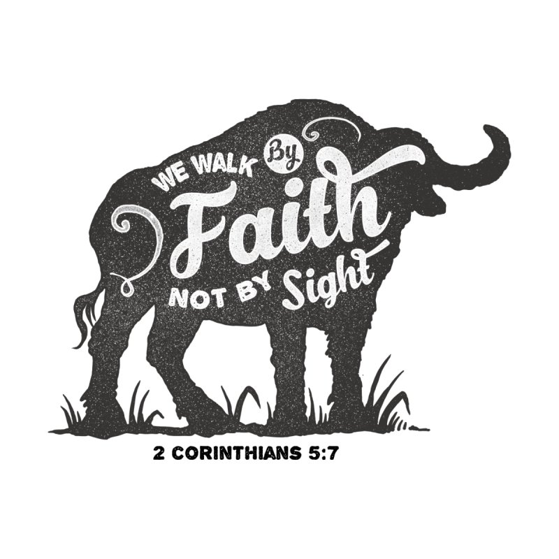 We Walk By Faith Not By Sight Kids Baby Longsleeve Bodysuit by Light of the World Tees