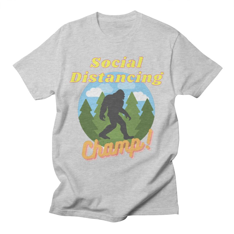Social Distancing Champ Men's T-Shirt by Leave The Lights On Podcast