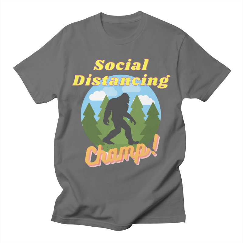Social Distancing Champ Women's T-Shirt by Leave The Lights On Podcast