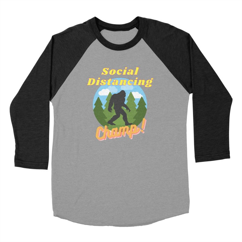 Social Distancing Champ Women's Longsleeve T-Shirt by Leave The Lights On Podcast