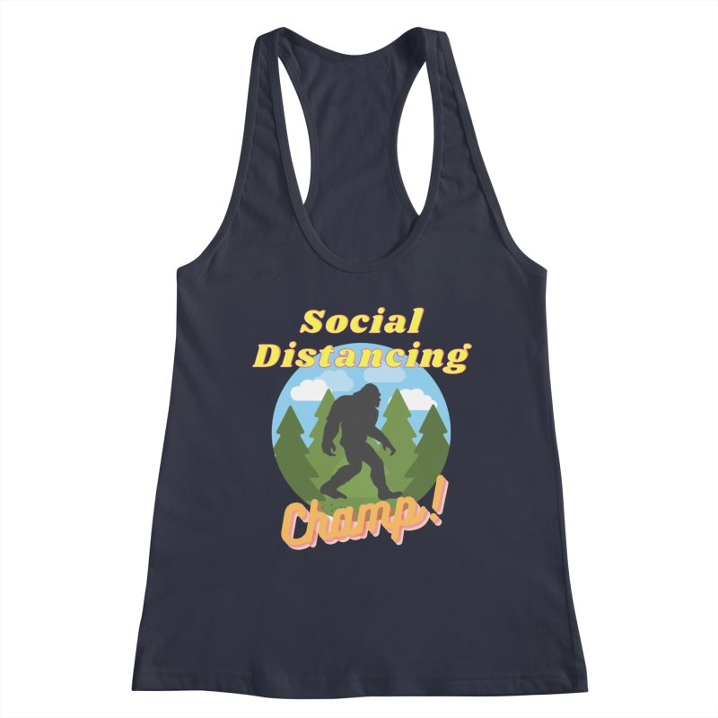 Social Distancing Champ Women's Tank by Leave The Lights On Podcast