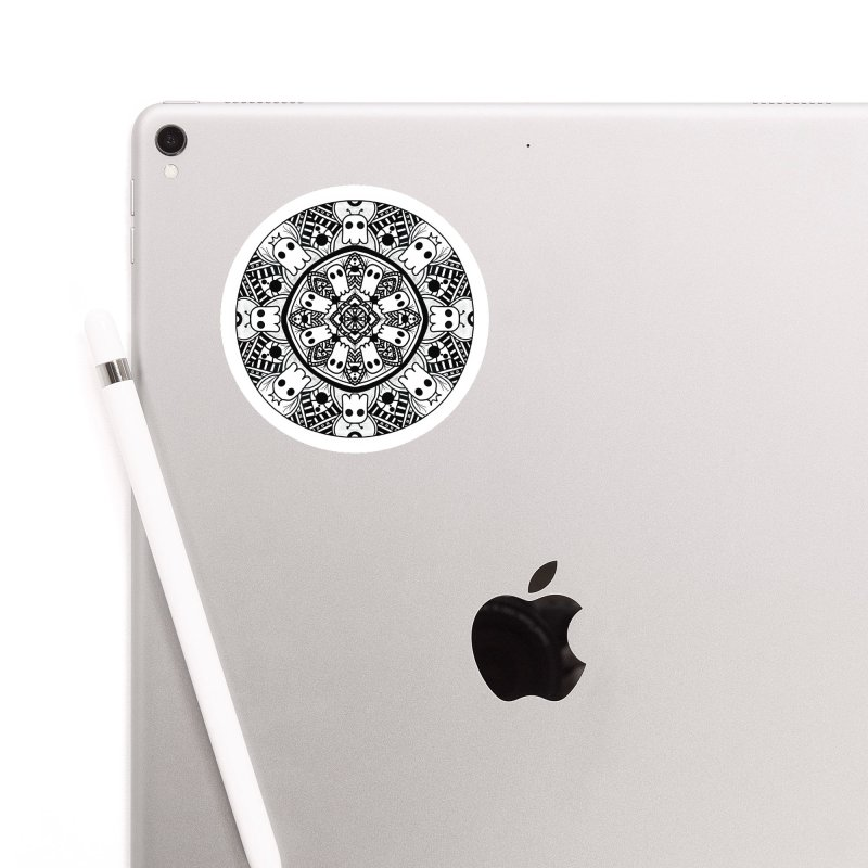 Ghost Mandala Accessories Sticker by Leave The Lights On Podcast