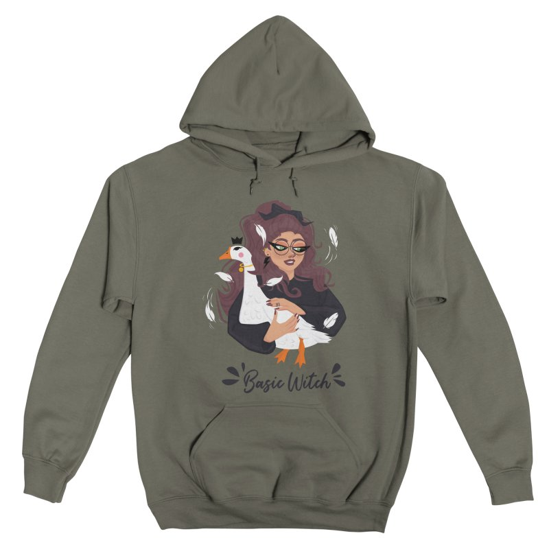 Basic Witch Women's Pullover Hoody by Leave The Lights On Podcast