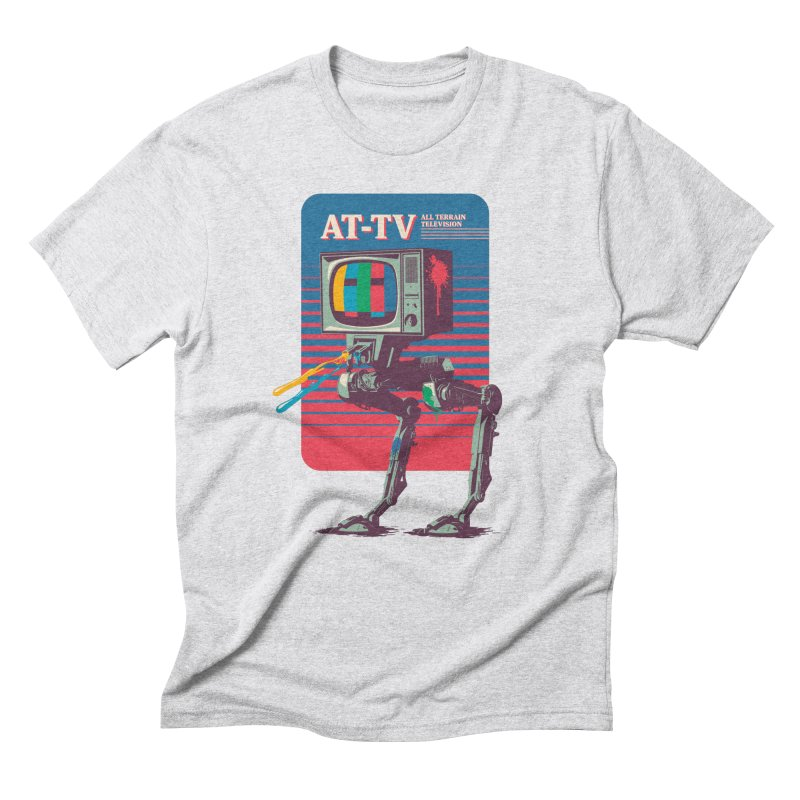 AT-TV in Men's Triblend T-Shirt Heather White by Light Spectrum's Artist Shop