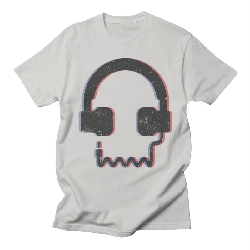 Deadphones in Men's Regular T-Shirt Stone by Light Spectrum's Artist Shop