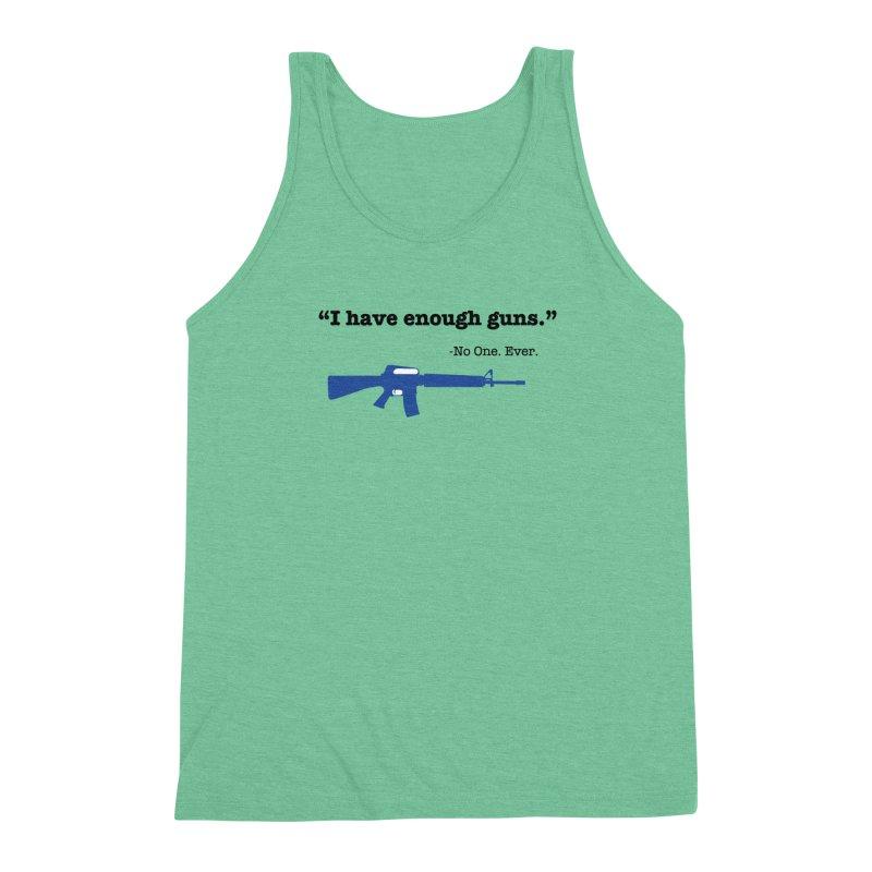 Never Enough Guns Men's Triblend Tank by Like a Lady Firearms Training