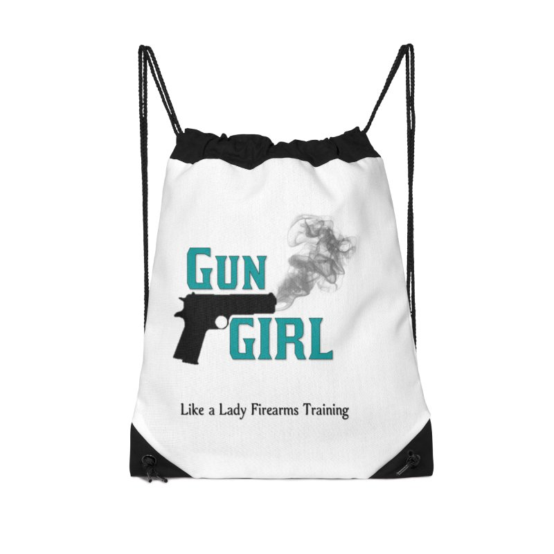 Gun Girl Accessories Drawstring Bag Bag by Like a Lady Firearms Training