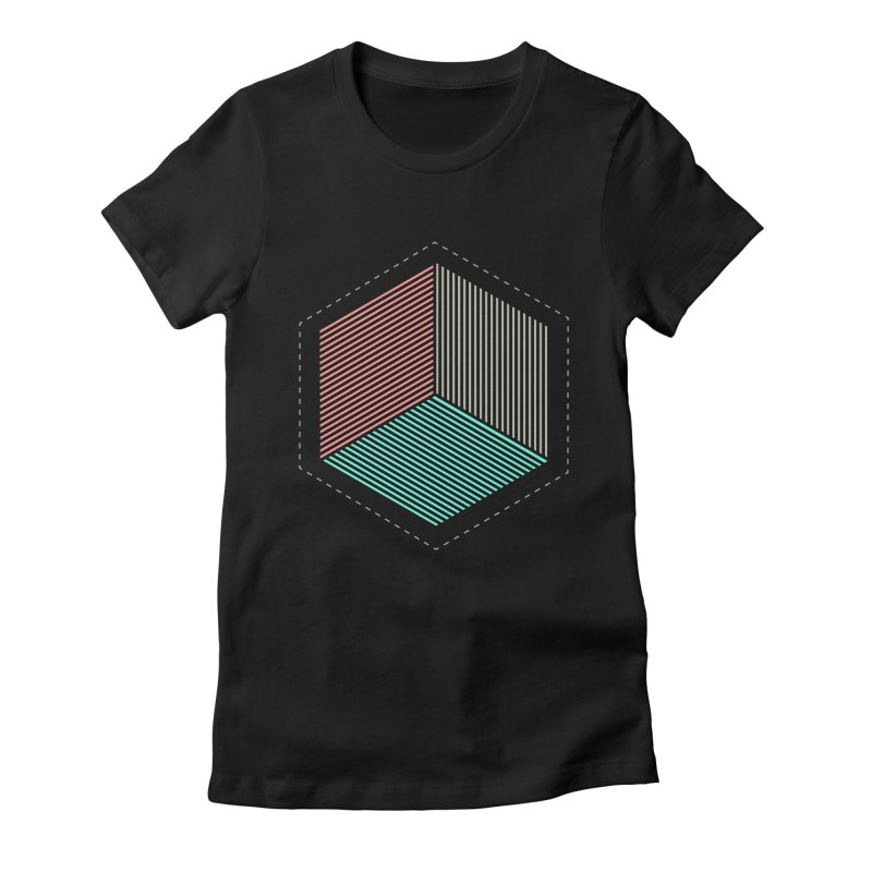 THE CUBE Women's Fitted T-Shirt by Likeit