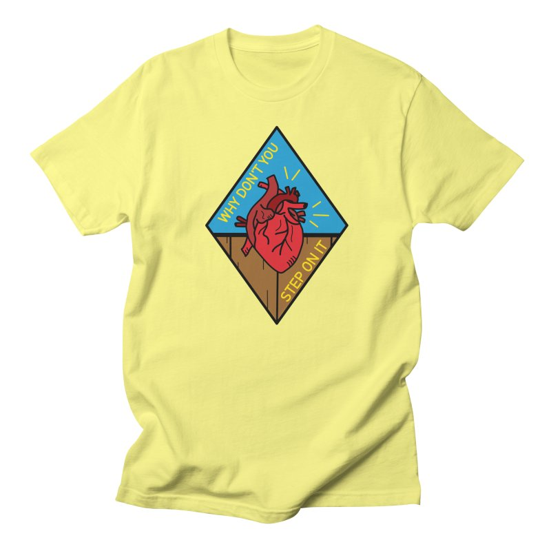 Heart Is On The Floor Men's T-Shirt by Lil Boat Boutique's Artist Shop