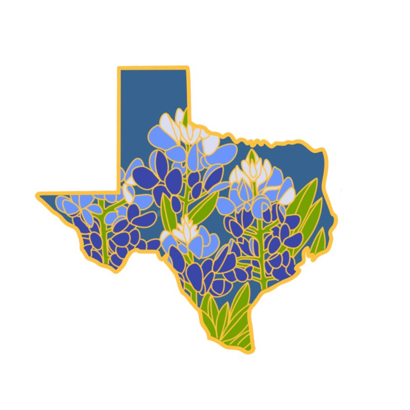 Texas Bluebonnet (State Flower Series) by Lil Boat Boutique's Artist Shop