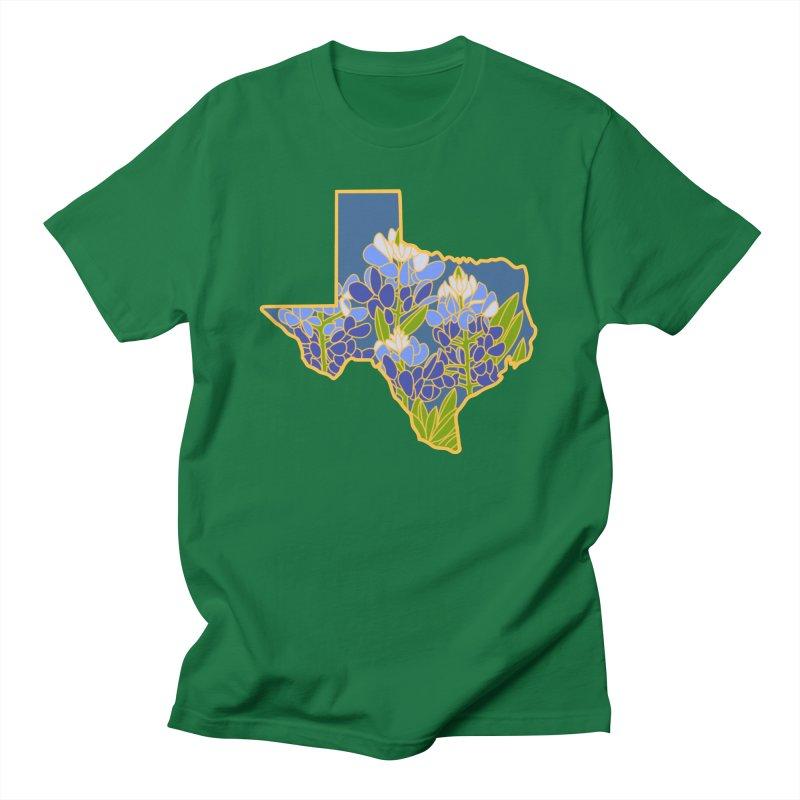 Texas Bluebonnet (State Flower Series) Men's T-Shirt by Lil Boat Boutique's Artist Shop