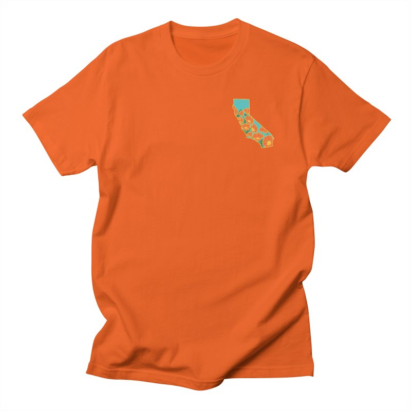 California Poppy - Pocket Men's T-Shirt by Lil Boat Boutique's Artist Shop