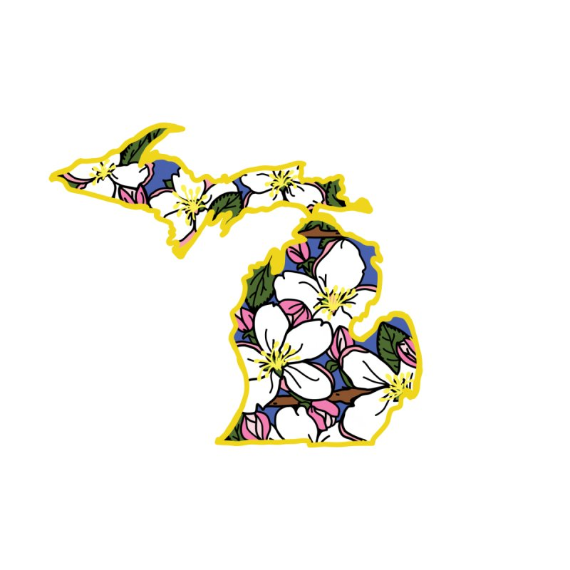 Michigan Apple Blossom - State Flower Series - Lil Boat Boutique by Lil Boat Boutique's Artist Shop