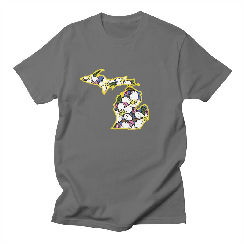 Michigan Apple Blossom - State Flower Series - Lil Boat Boutique Men's T-Shirt by Lil Boat Boutique's Artist Shop