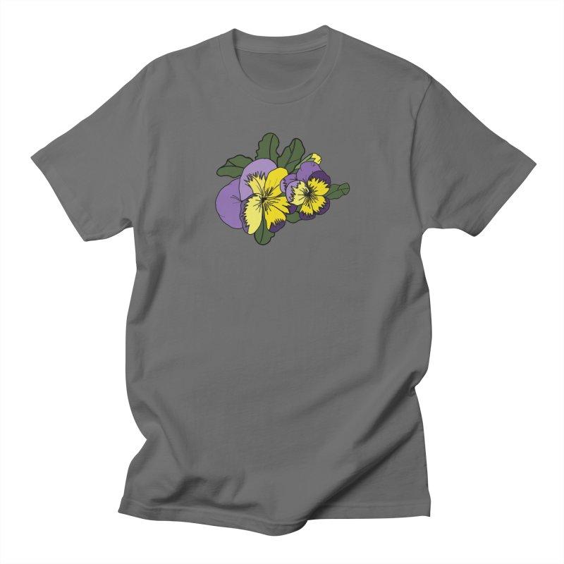 Floral Sketch - Lil Boat Boutique Men's T-Shirt by Lil Boat Boutique's Artist Shop