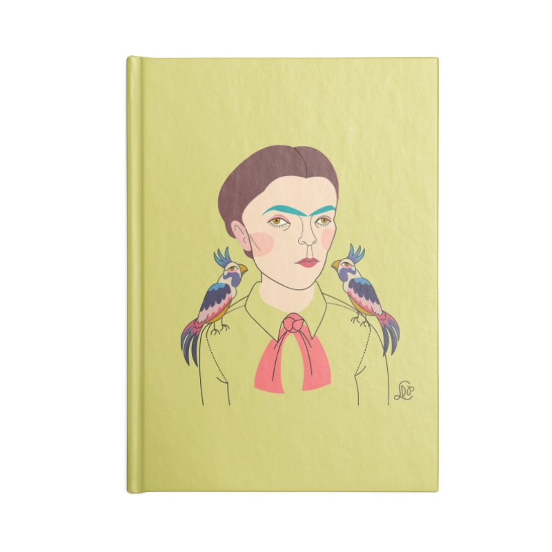 Frida Accessories Blank Journal Notebook by lilidiprima's Artist Shop