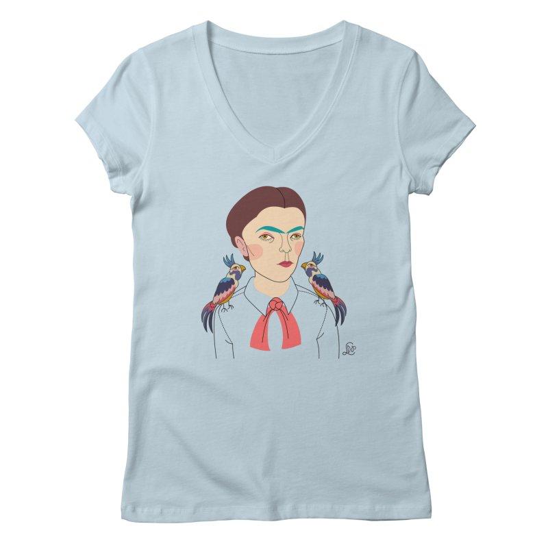 Frida Women's Regular V-Neck by lilidiprima's Artist Shop