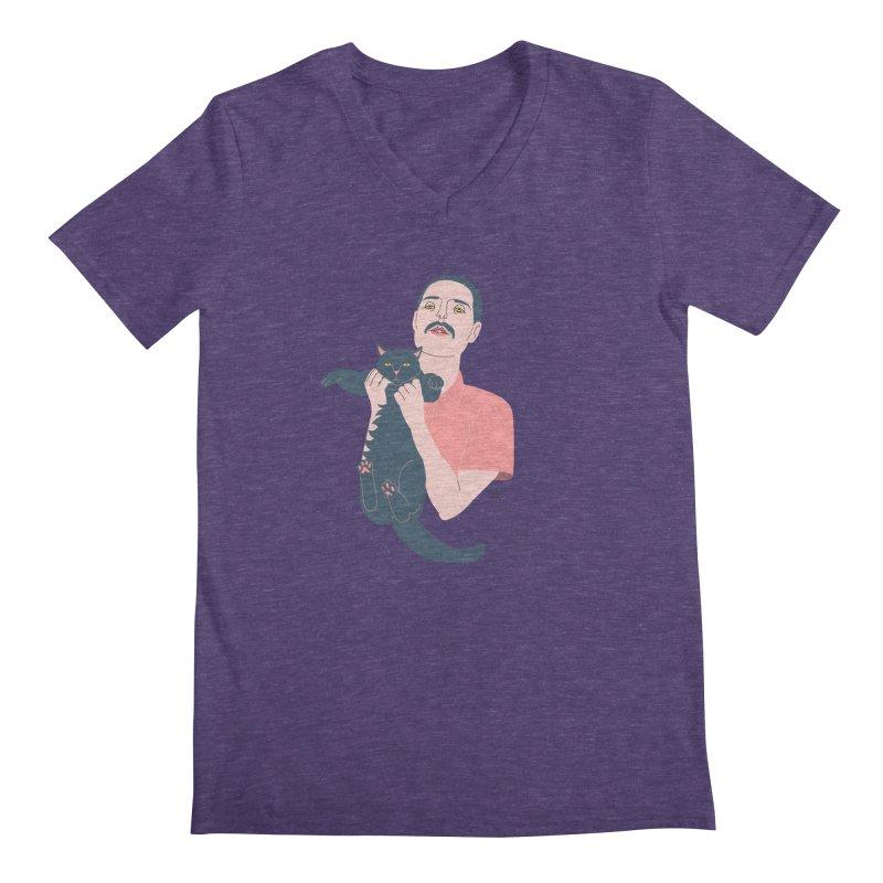 Freddie and Delilah Men's Regular V-Neck by lilidiprima's Artist Shop
