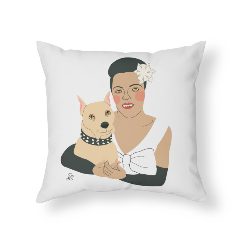 Billie and Mister Home Throw Pillow by lilidiprima's Artist Shop