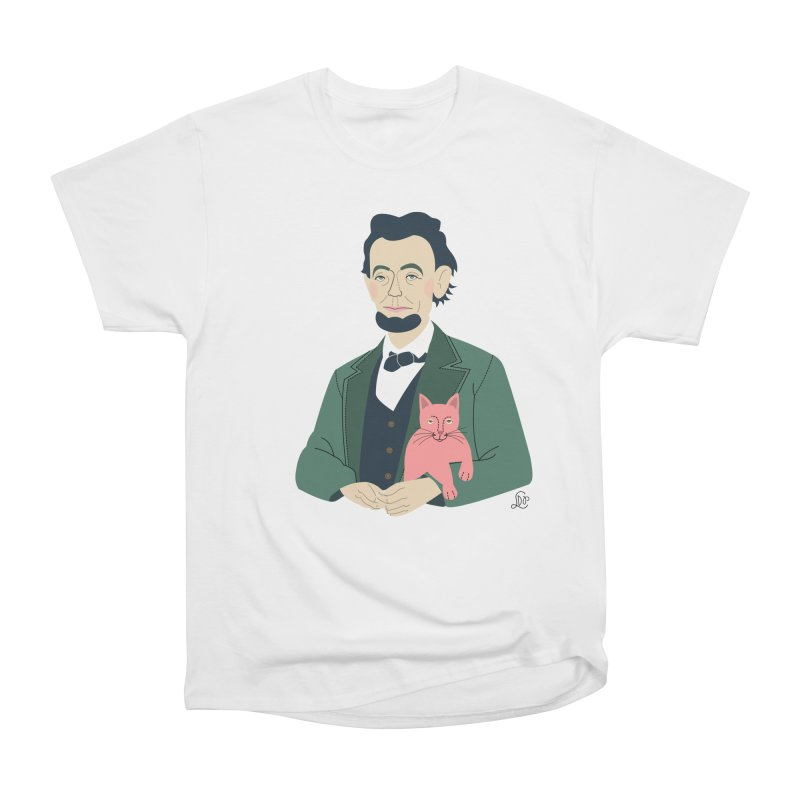 Abraham and Tabby Men's Heavyweight T-Shirt by lilidiprima's Artist Shop