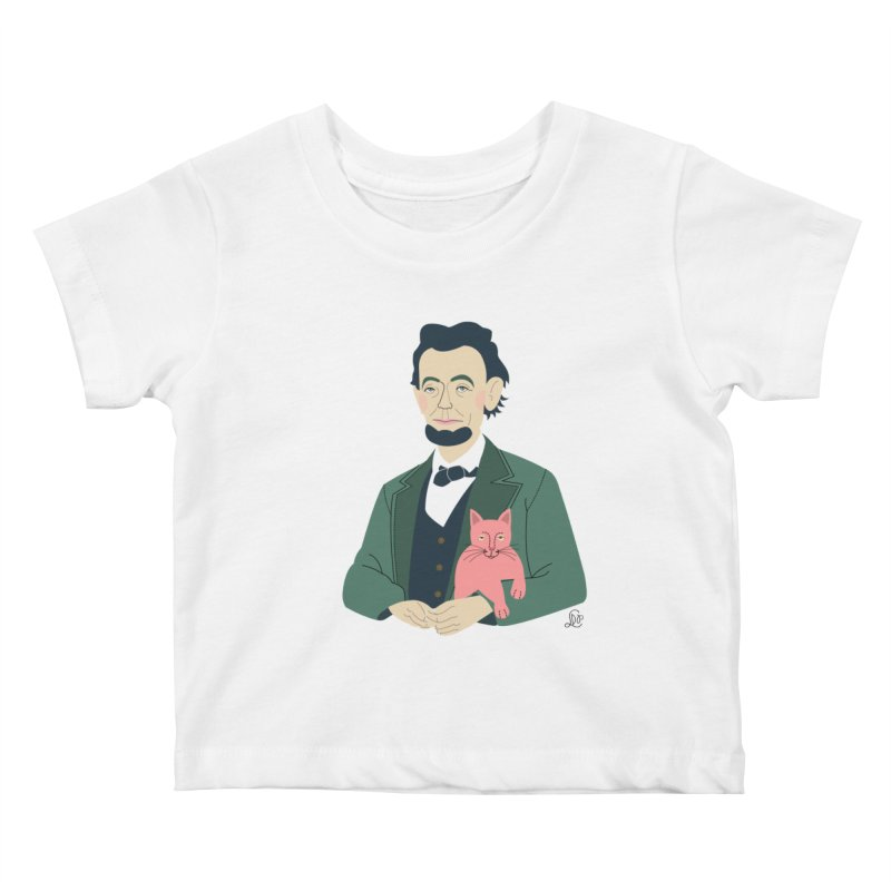 Abraham and Tabby Kids Baby T-Shirt by lilidiprima's Artist Shop