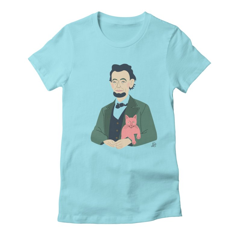 Abraham and Tabby Women's Fitted T-Shirt by lilidiprima's Artist Shop