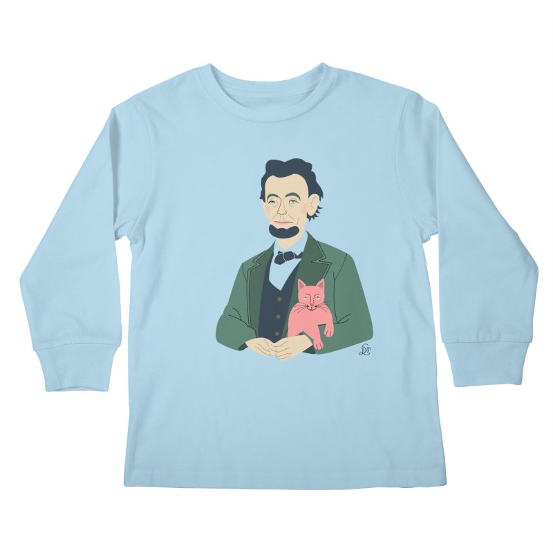 Abraham and Tabby Kids Longsleeve T-Shirt by lilidiprima's Artist Shop