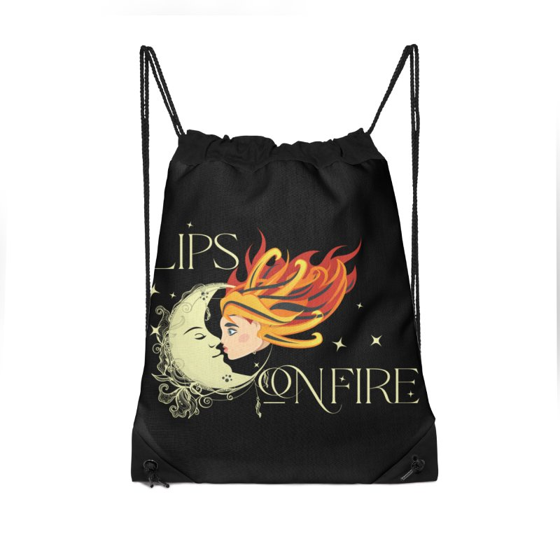 Lips on Fire Band T-Shirt Accessories Bag by Lili Valente Makes Stuff