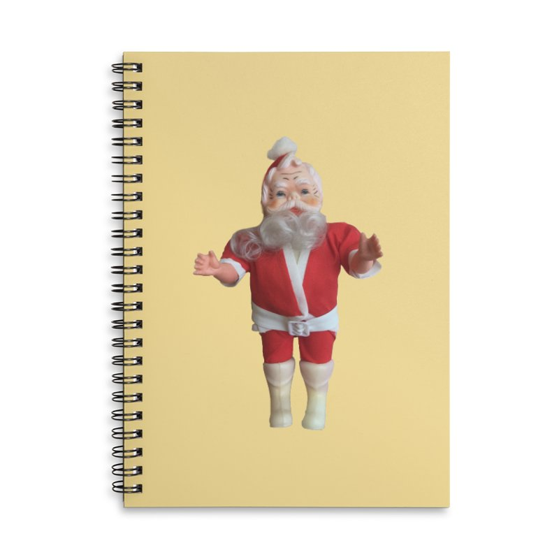 Creepy Thrift Store Santa Accessories Lined Spiral Notebook by Lili Valente Makes Stuff