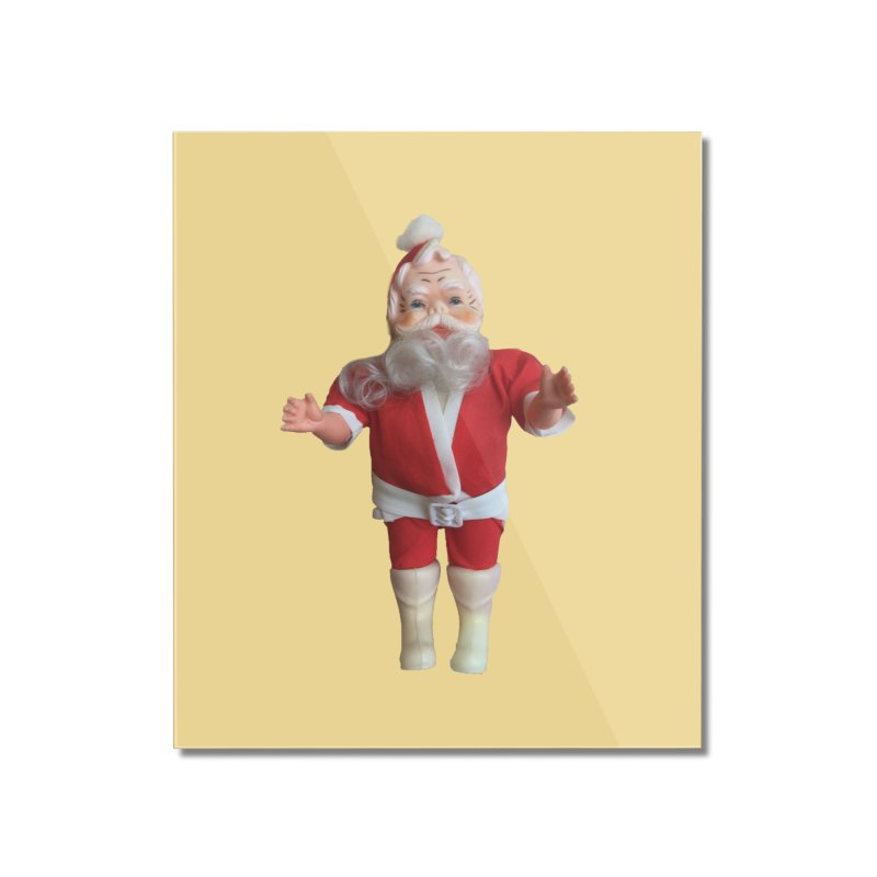 Creepy Thrift Store Santa Home Mounted Acrylic Print by Lili Valente Makes Stuff