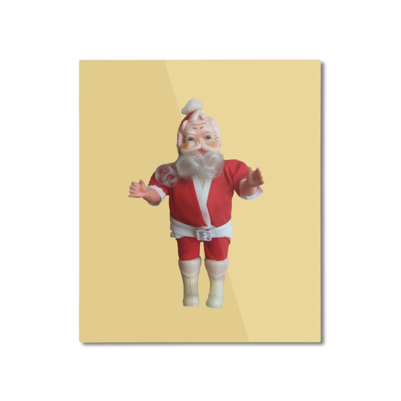 Creepy Thrift Store Santa Home Mounted Aluminum Print by Lili Valente Makes Stuff