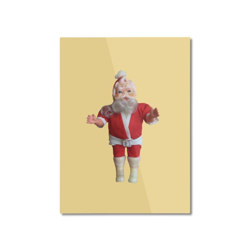 Creepy Thrift Store Santa Home Mounted Aluminum Print by Lili Valente Makes Stuff
