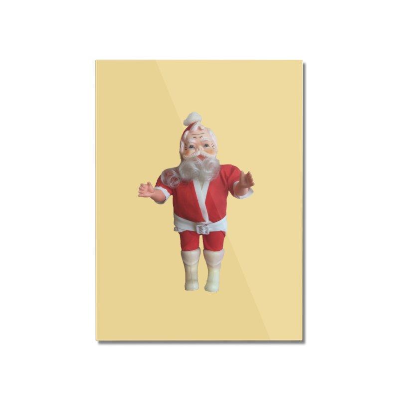 Creepy Thrift Store Santa Home Mounted Acrylic Print by Lili Valente Makes Stuff