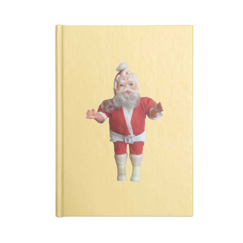 Creepy Thrift Store Santa Accessories Lined Journal Notebook by Lili Valente Makes Stuff