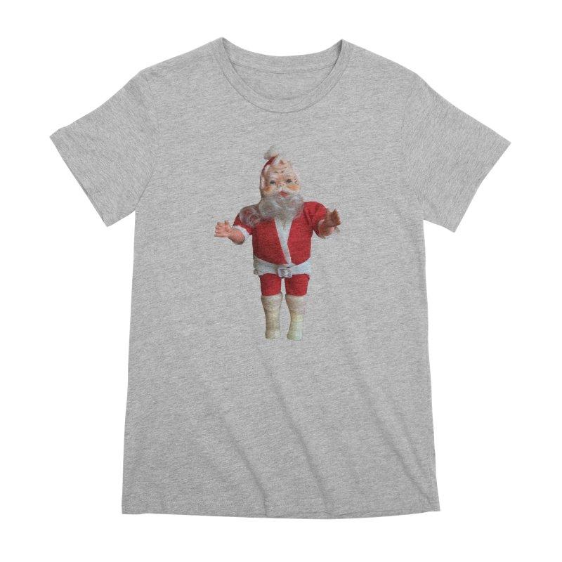 Creepy Thrift Store Santa Women's Premium T-Shirt by Lili Valente Makes Stuff