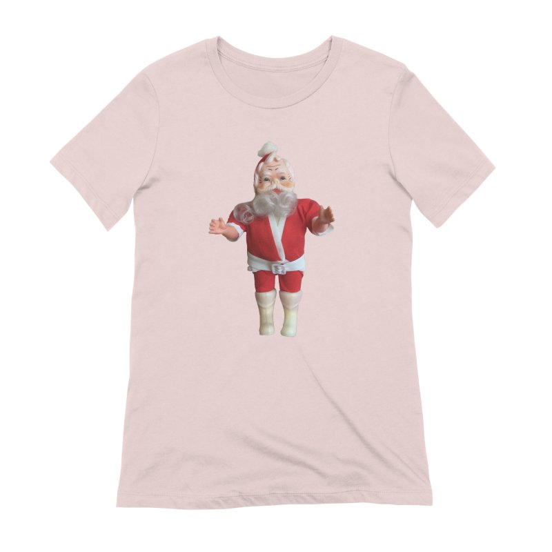 Creepy Thrift Store Santa Women's Extra Soft T-Shirt by Lili Valente Makes Stuff