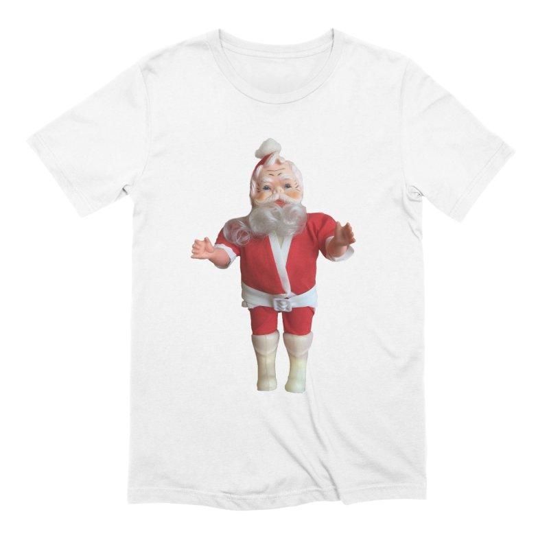 Creepy Thrift Store Santa Men's Extra Soft T-Shirt by Lili Valente Makes Stuff