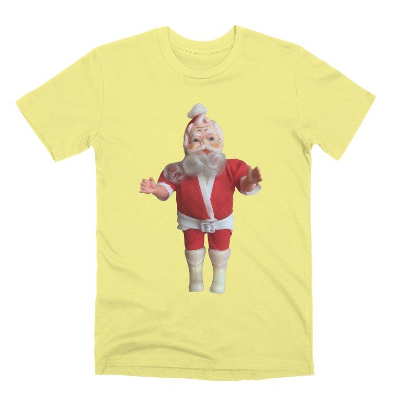 Creepy Thrift Store Santa Men's T-Shirt by Lili Valente Makes Stuff