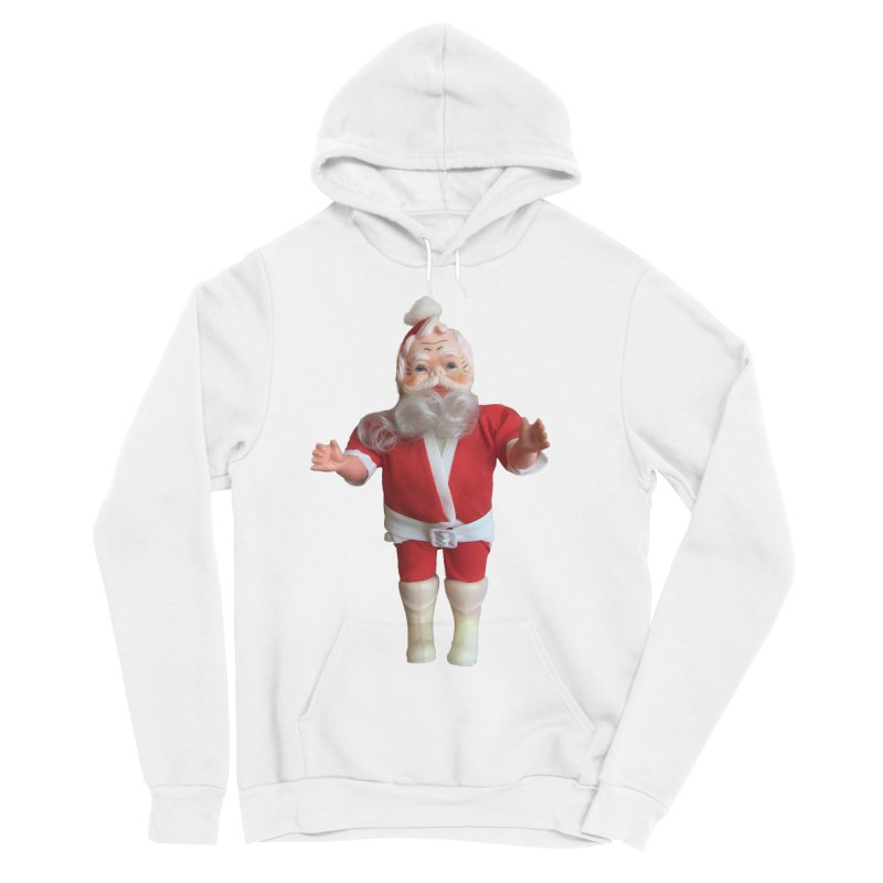 Creepy Thrift Store Santa Men's Sponge Fleece Pullover Hoody by Lili Valente Makes Stuff